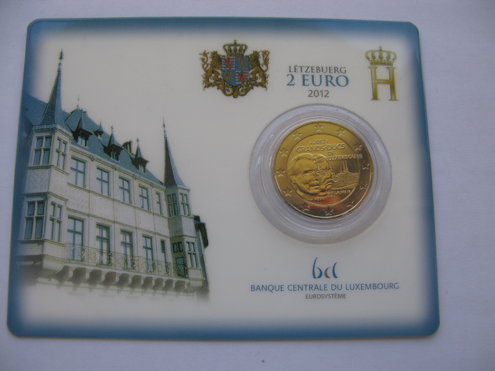 Люксембург 2 евро 2012  Вильгельм IV (в карточке)
