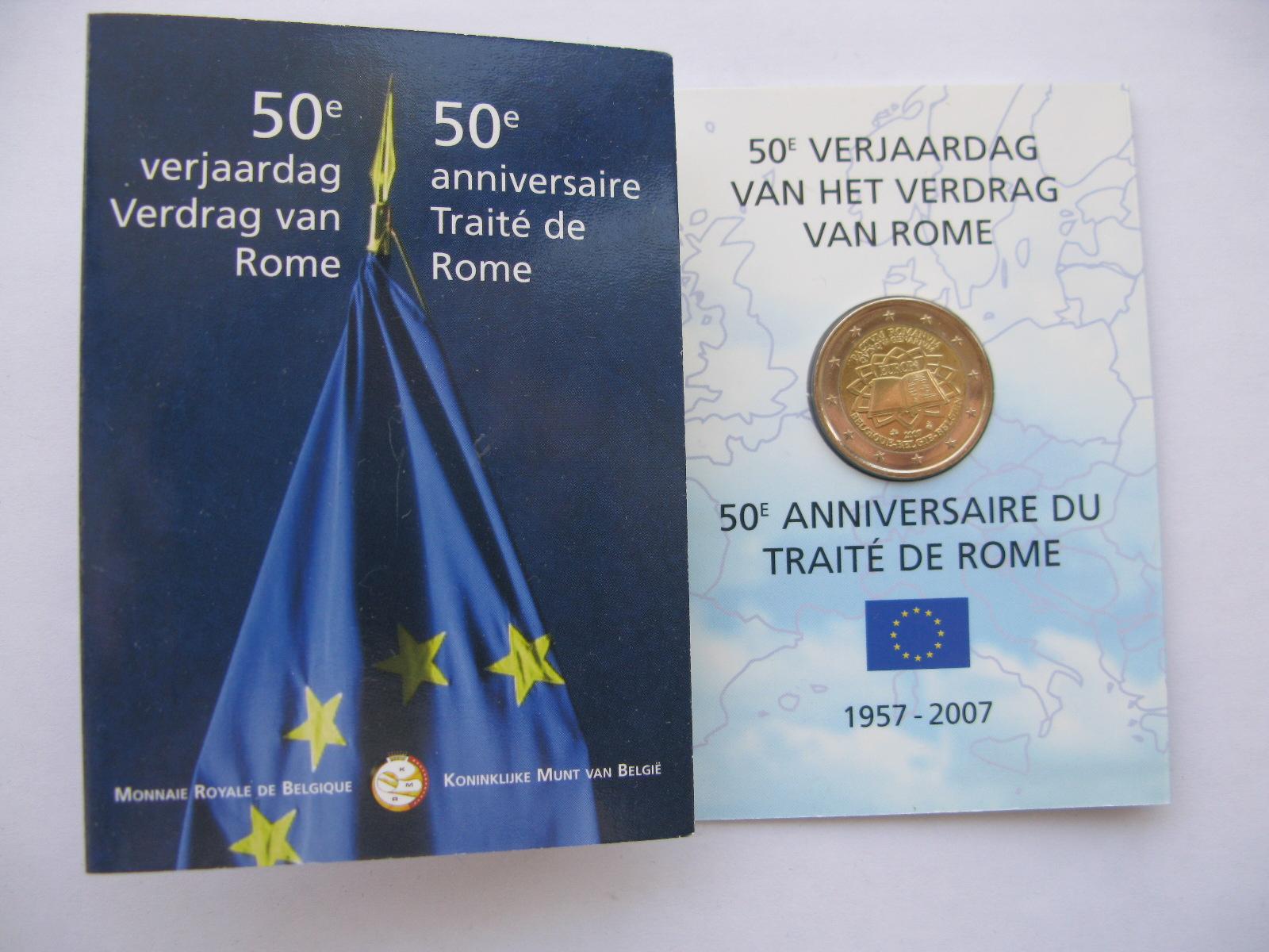 Бельгия 2 евро 2007 г. Римский договор