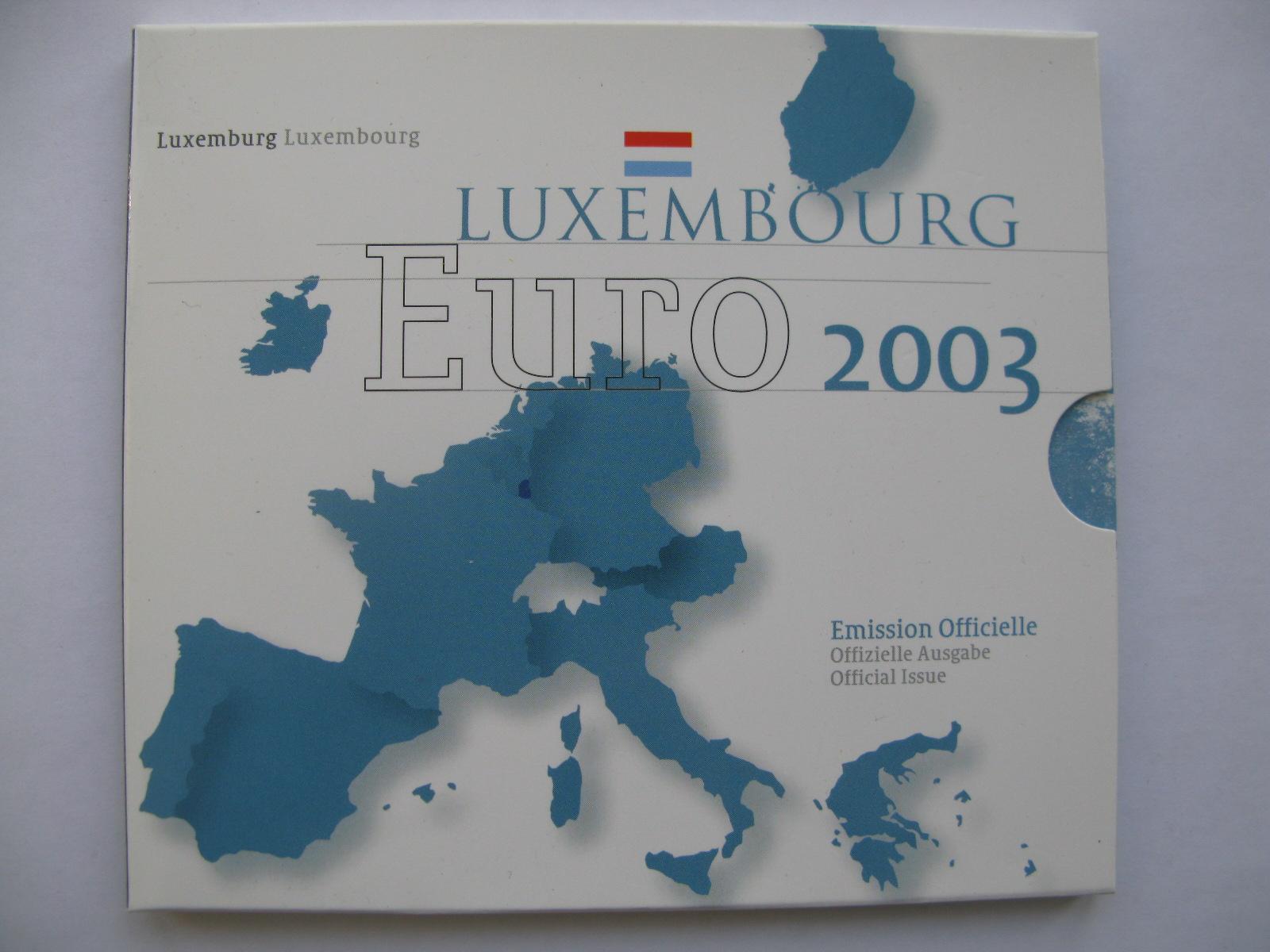 Люксембург официальный набор евро 2003 г.