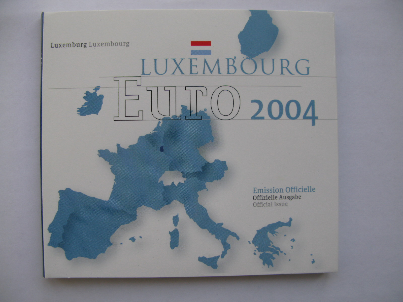 Люксембург официальный набор евро 2004 г.