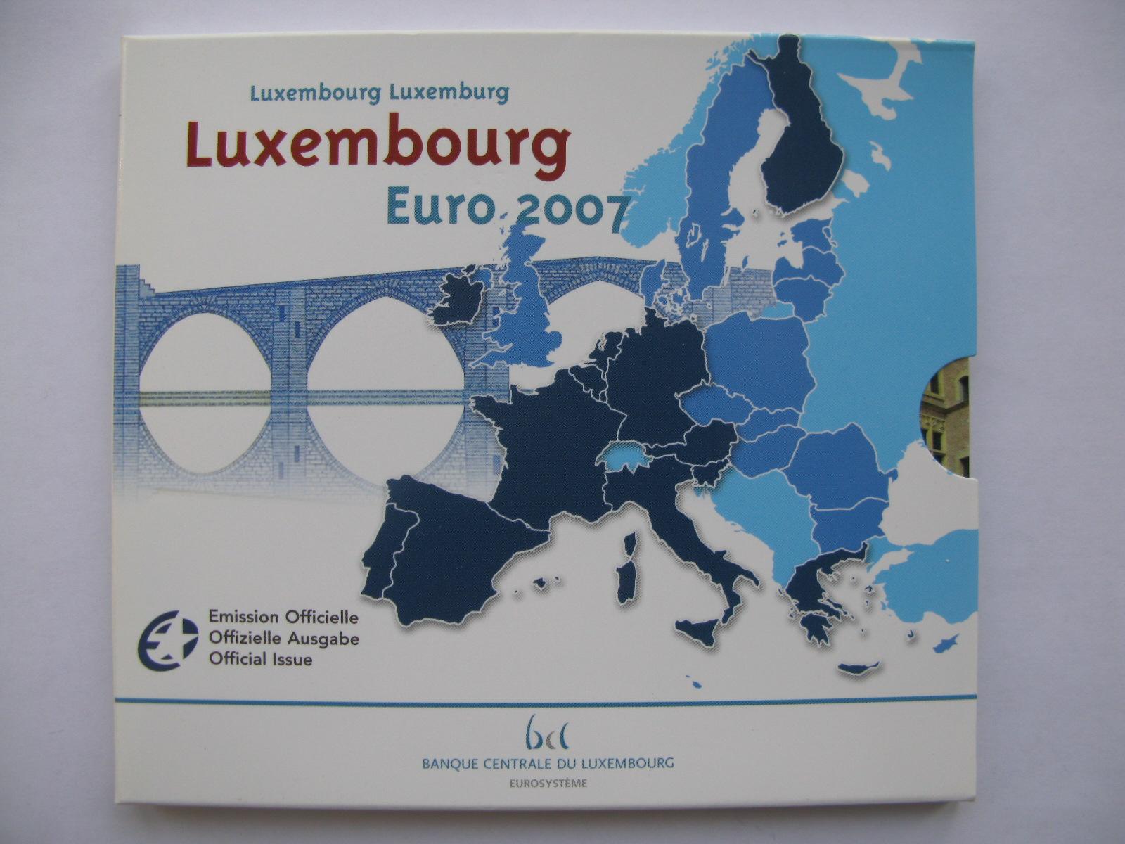Люксембург официальный набор евро 2007 г.