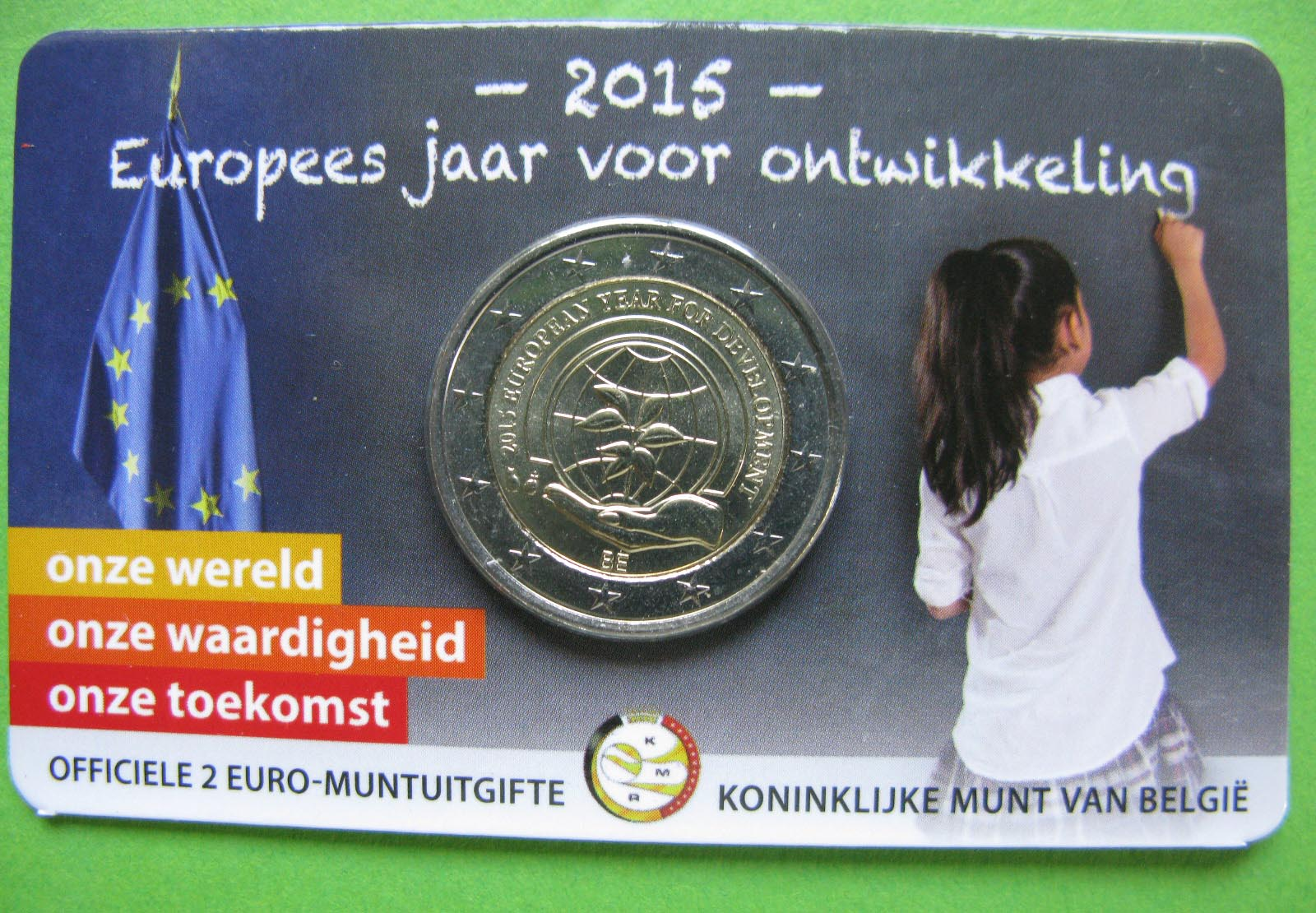 Бельгия 2 евро 2015 г.  Европейский год развития