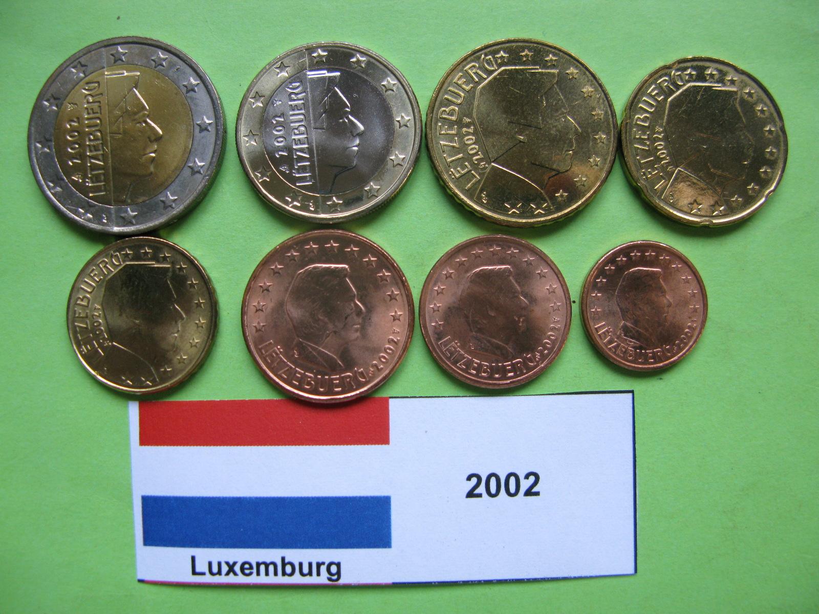 Люксембург набор евро 2002 UNC