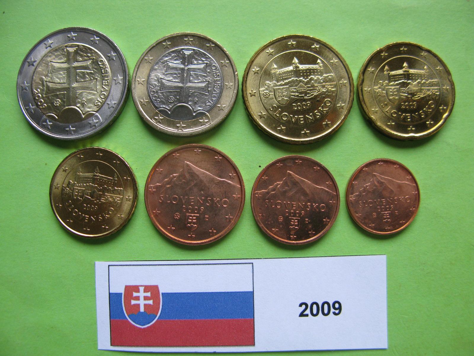 Словакия набор евро 2009  UNC