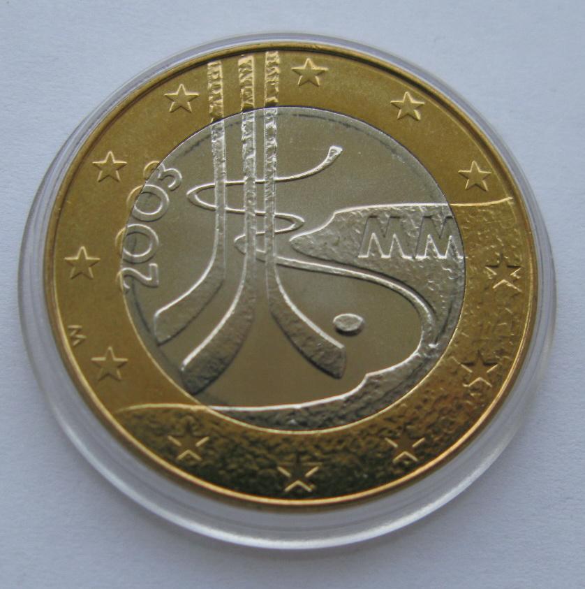 Финляндия 5 евро 2003 г.  Хоккей