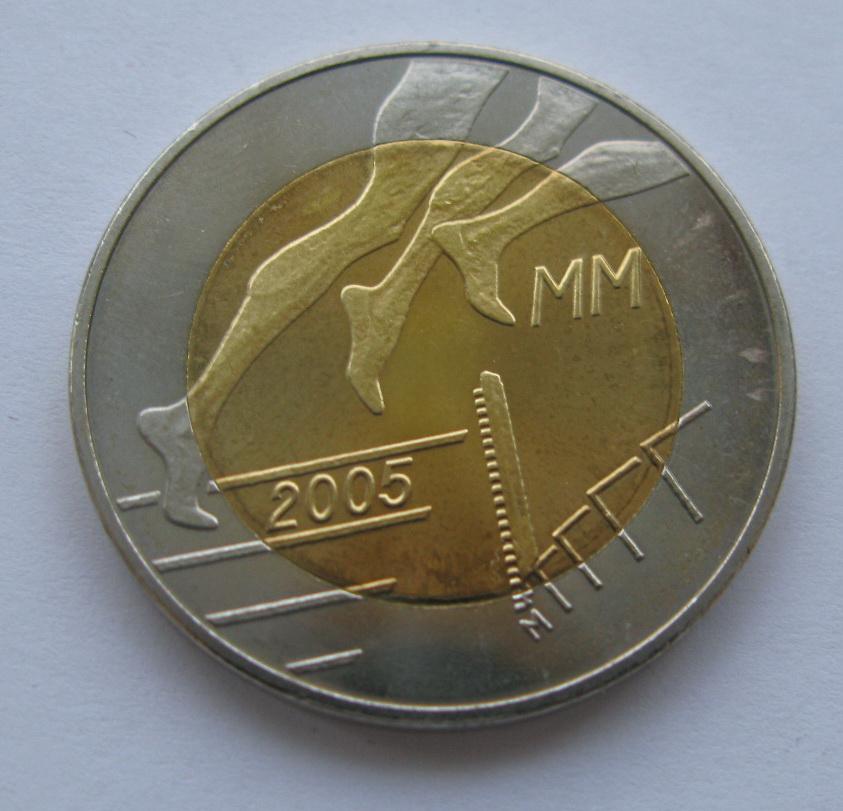Финляндия 5 евро 2005 г.  Легкая атлетика