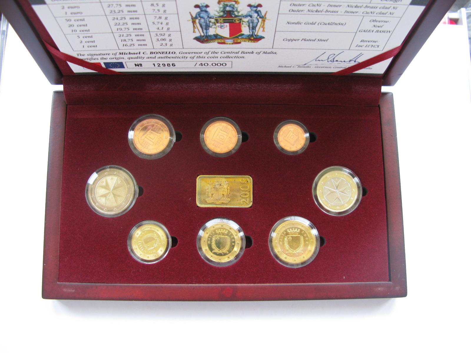Мальта официальный набор евро 2008 г.