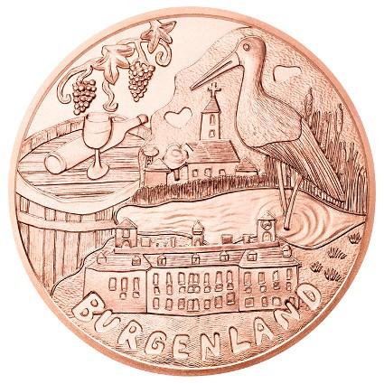 Австрия  10 евро 2015 г. Бургенланд