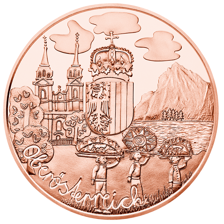 Австрия  10 евро 2016 г.  Верхняя Австрия