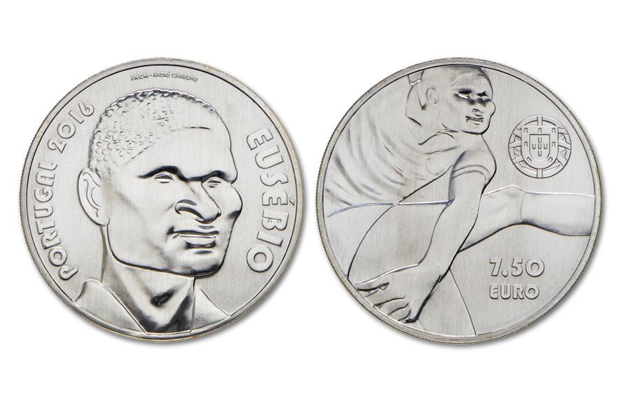 Португалия 7,5 евро 2016 г.  Эйсебио