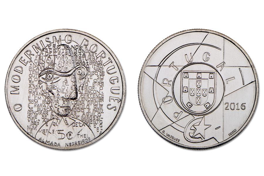 Португалия 5 евро 2016 г.  Модернизм