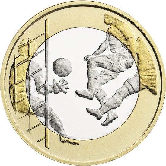 Финляндия 5 евро 2016 г.  Футбол