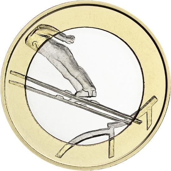 Финляндия 5 евро 2016 г.  Прыжки с трамплина