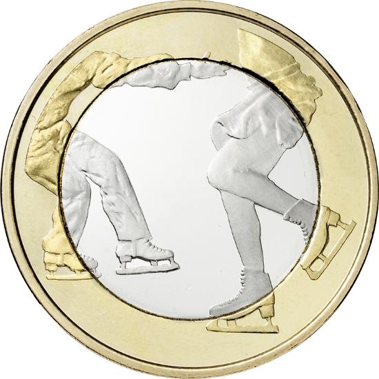 Финляндия 5 евро 2015 г.  Фигурное катание