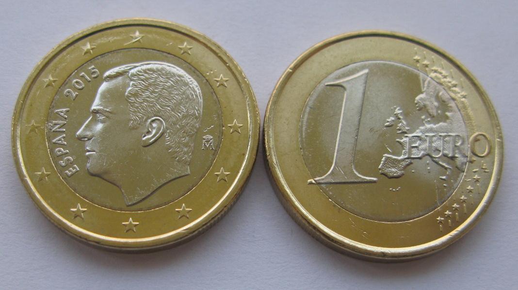 Испания 1 евро 2015 г.