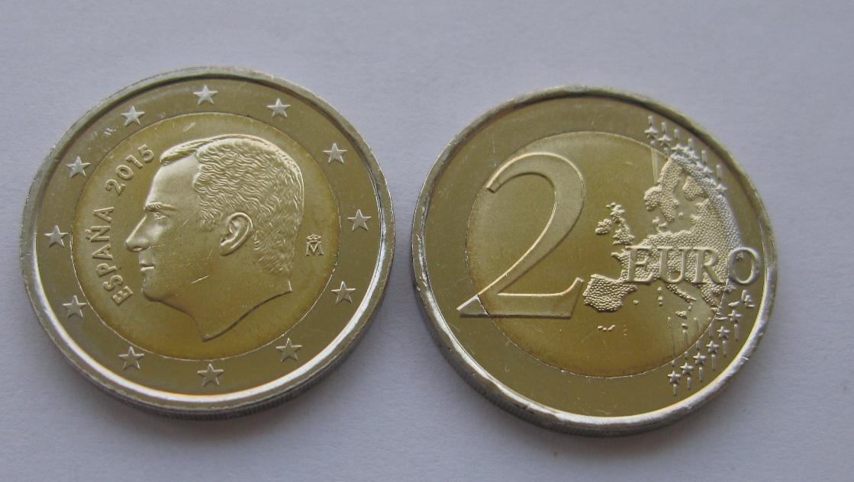 Испания 2 евро 2015 г.