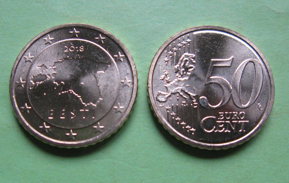 Эстония 50 евро центов 2011 г.