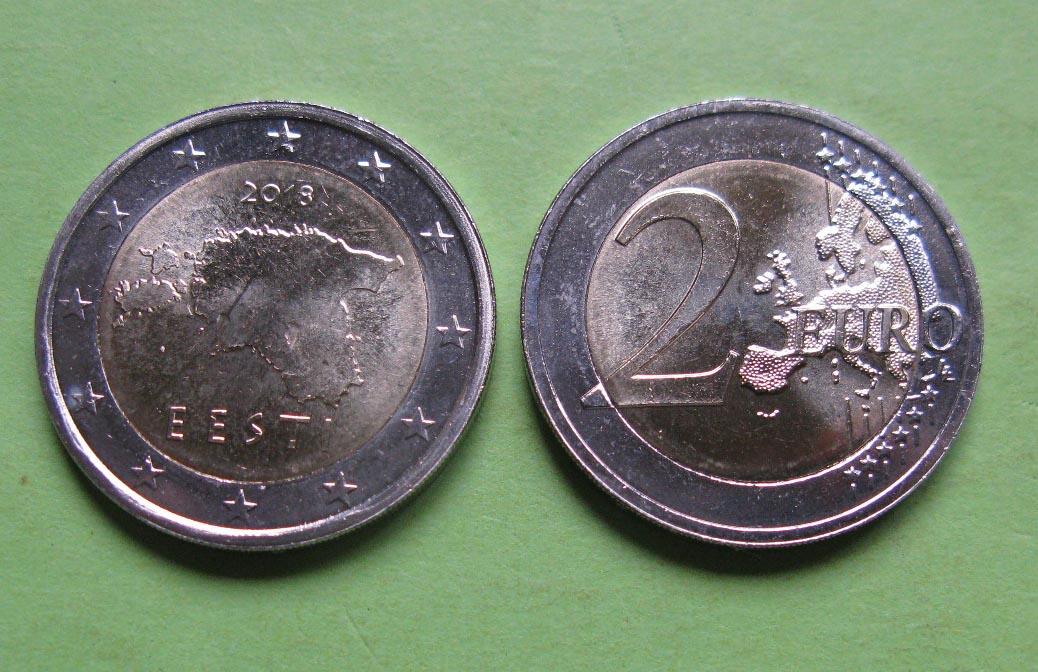 Эстония 2 евро 2011 г.