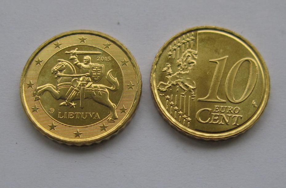 Литва 10 евро центов 2017 г.