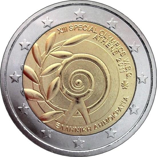 Греция 2 евро 2011 г. Специальные Олимпийские игры