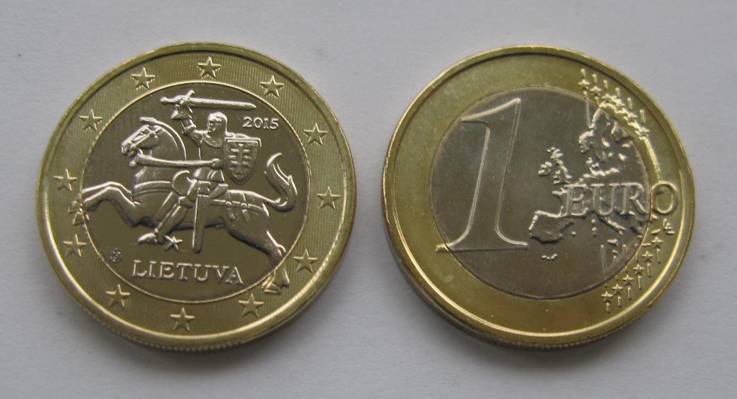 Литва 1 евро 2015 г.