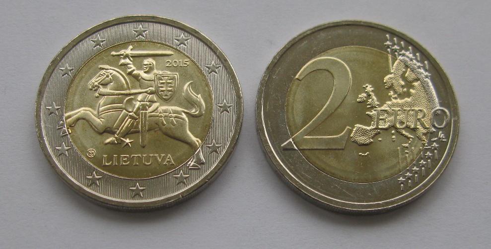 Литва 2 евро 2020 г.