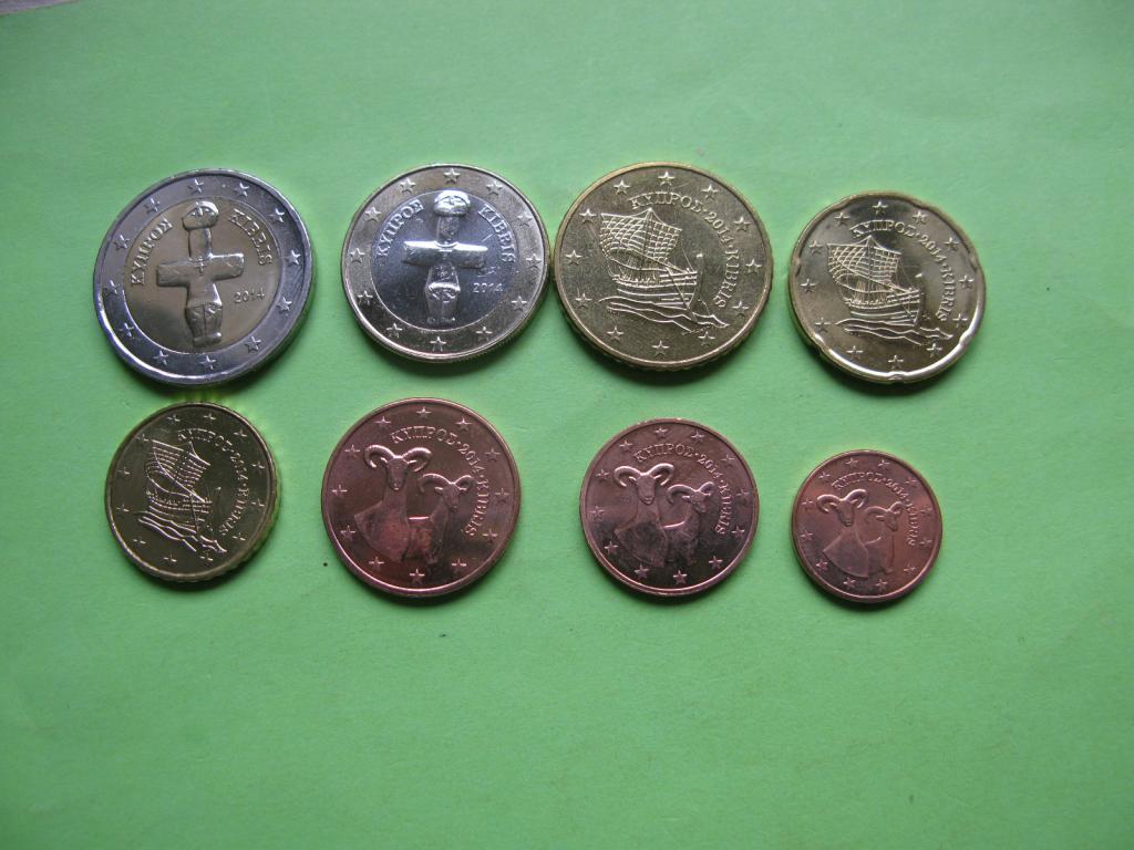 Кипр  набор монет 2014 г.  UNC