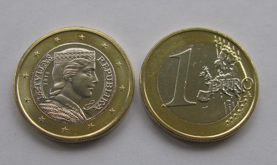 Латвия 1 евро  2014 г.
