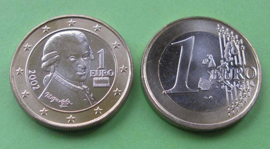 Австрия 1 евро 2002 г.