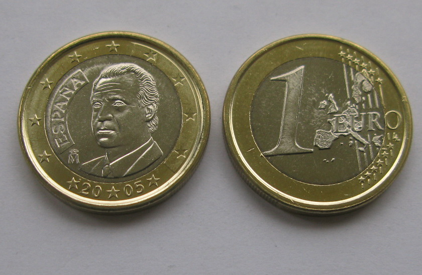 Испания 1 евро 2005 г.