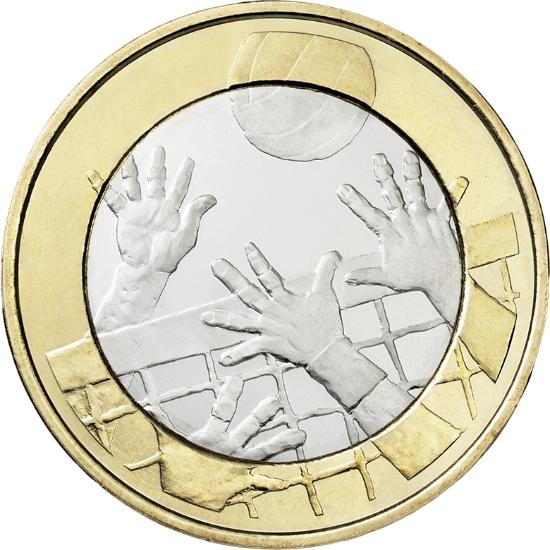 Финляндия 5 евро 2015 г.  Волейбол