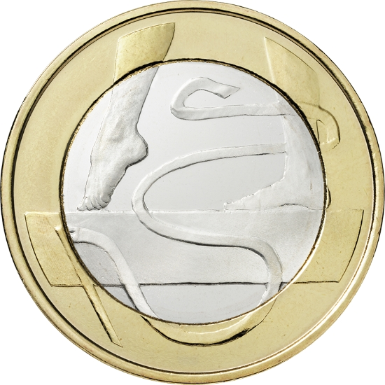 Финляндия 5 евро 2015 г.   Гимнастика