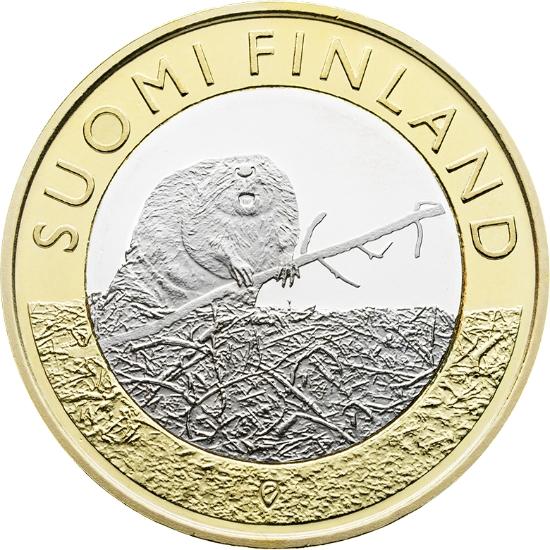 Финляндия 5 евро 2015 г.  Провинция Санакунта - бобер