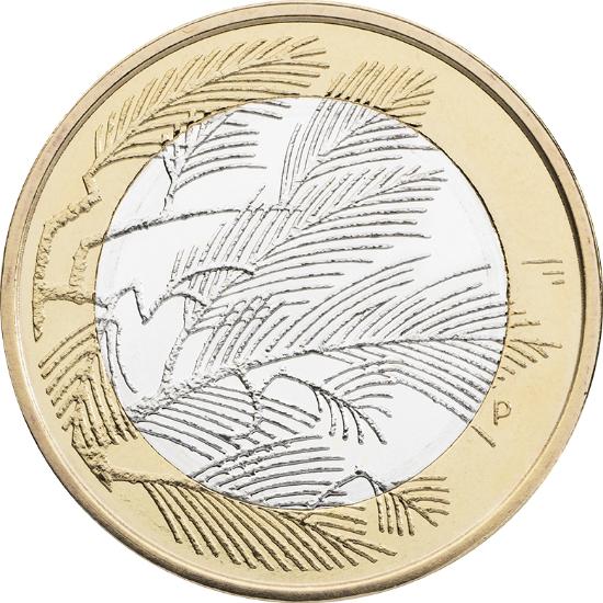 Финляндия 5 евро 2014 г. Северная природа-сосны