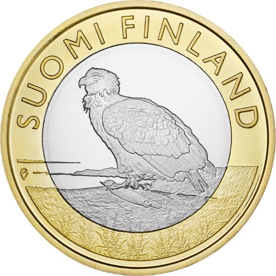 Финляндия 5 евро 2014 г.  Провинция Аланды - орел