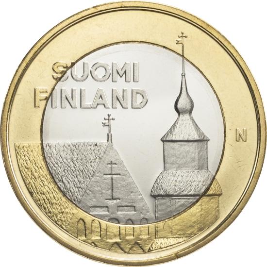 Финляндия 5 евро 2013 г. Архитектура провинций - Хяме