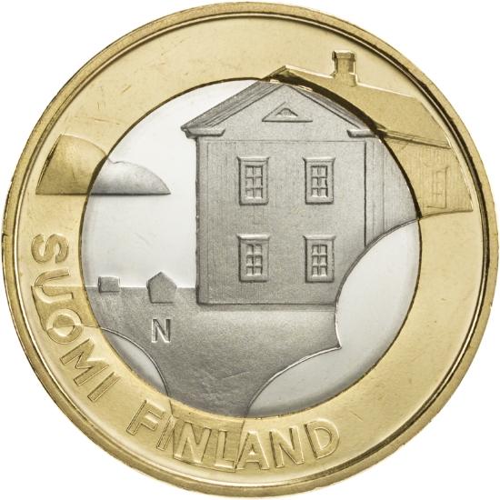 Финляндия 5 евро 2013 г. Архитектура провинций - Остроботния