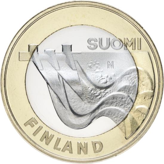 Финляндия 5 евро 2013 г. Архитектура провинций - Карелия