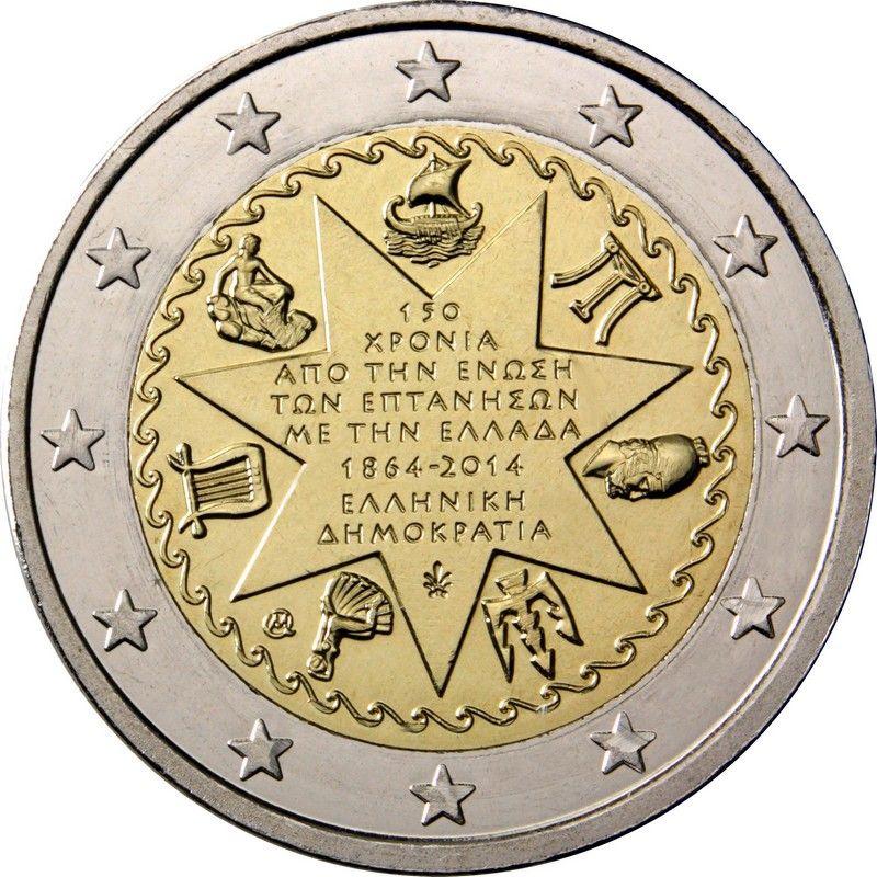 Греция 2 евро 2014 г.  Союз Ионических островов