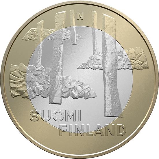 Финляндия 5 евро 2013 г. Архитектура провинций - Санакунта