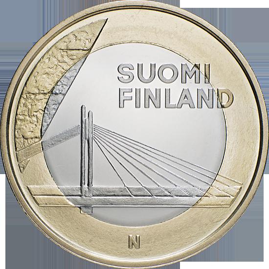 Финляндия 5 евро 2012 г. Архитектура провинций -Лапландия