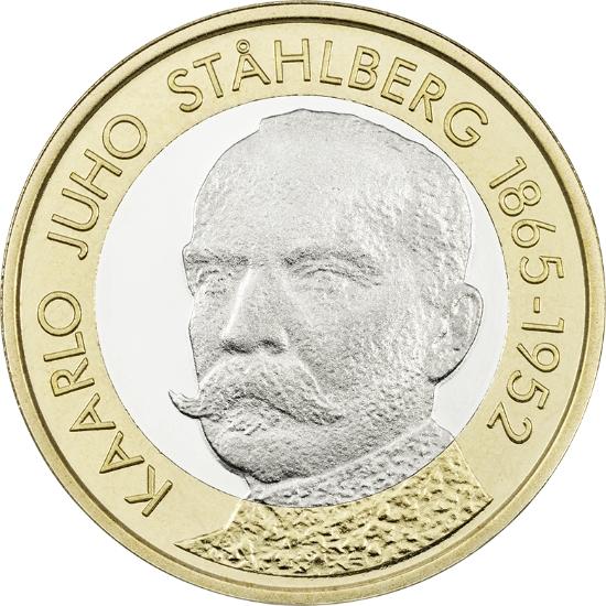 Финляндия 5 евро 2016 г. Президент Юхо Стольберг