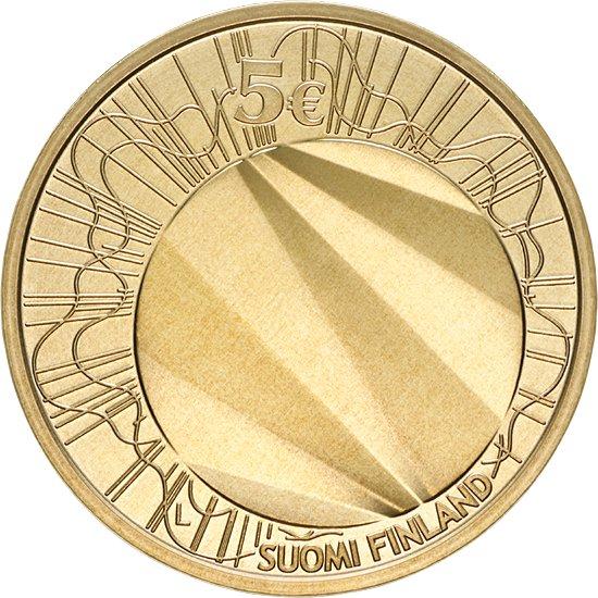 Финляндия 5 евро 2012 г. Хельсинки -столица дизайна