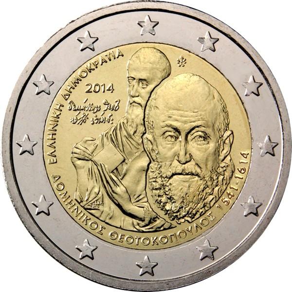 Греция 2 евро 2014 г.  Эль Греко