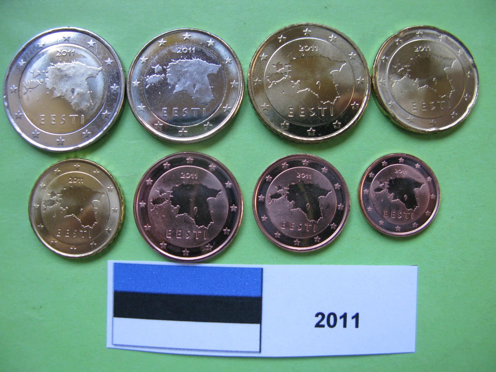 Эстония набор евро 2011  UNC