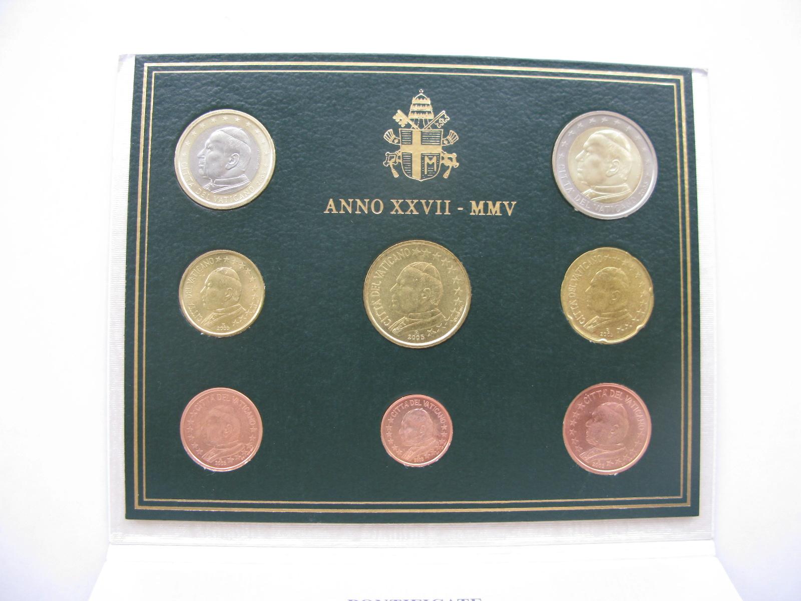 Ватикан официальный набор  2005 г.(Папа Иоанн Павел II)