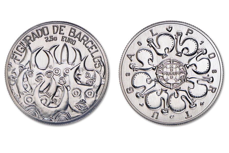 Португалия 2,5 евро 2016 г. Керамика из Барселуш