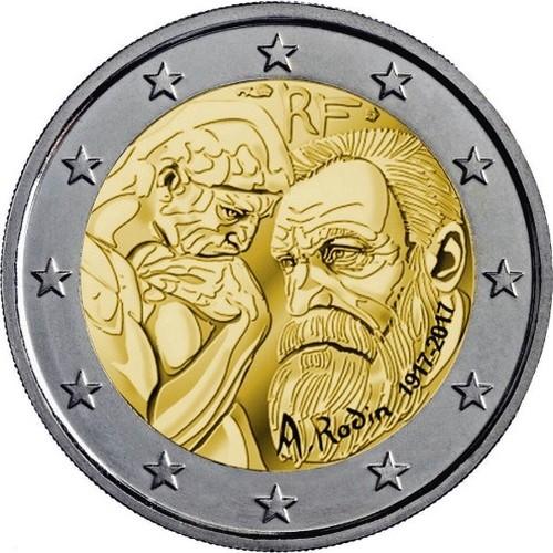 Франция 2 евро 2017 г. Огюст Роден