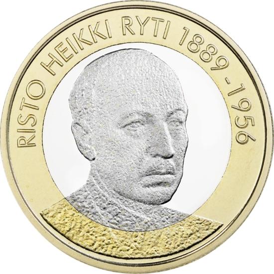 Финляндия 5 евро 2017 г. Президент Ристо Рюти