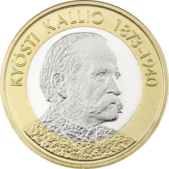 Финляндия 5 евро 2016 г. Президент Кюёсти Каллио